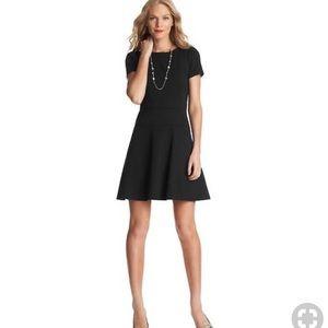 Ann Taylor LOFT Black Fit and Flare Dress